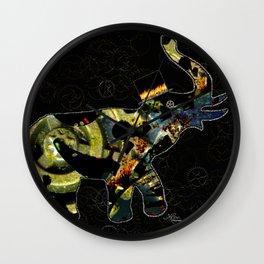 Steampunk Elephant, Scanography Art Wall Clock