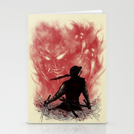 Ronin Versus Oni Stationery Cards