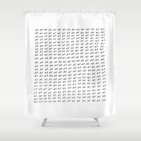 shit Shower Curtains featuring shit by edoardo de falchi