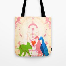 Family (Pink and Blue) Tote Bag
