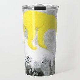 Yellow Panther Travel Mug