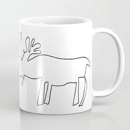 Line Moose Coffee Mug