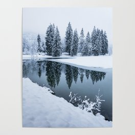Dreamy Winterscape Poster