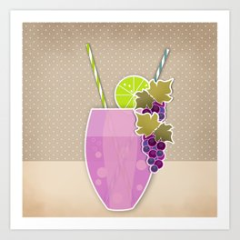 """Picture. The grape juice. From a set of paintings. The """"kitchen"""". Art Print"""