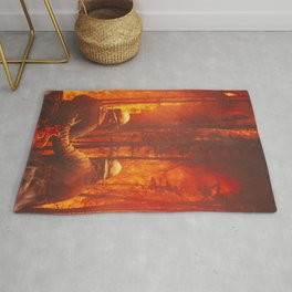 Firefighters Hero Rug