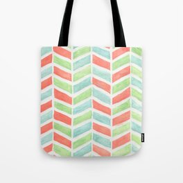 Pastel fishbone Tote Bag