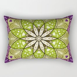 Blooming Flower Mandala Rectangular Pillow