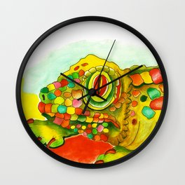 Yellow Lizzard Wall Clock