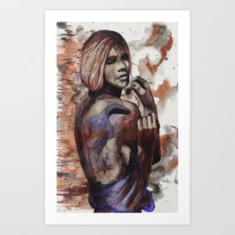 Lara ink by carographic, Carolyn Mielke Art Print