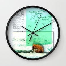 Alaskan Brown Bear Wall Clock