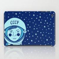 valentina iPad Cases featuring Valentina Tereshkova by Emma Falconer