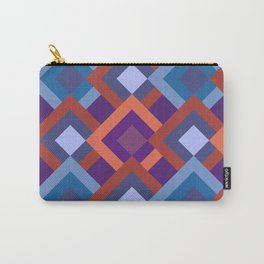 Purple Diamond Shade Geometric Patterns Carry-All Pouch