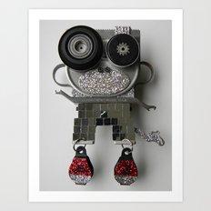 Disco Monkey Bot Art Print