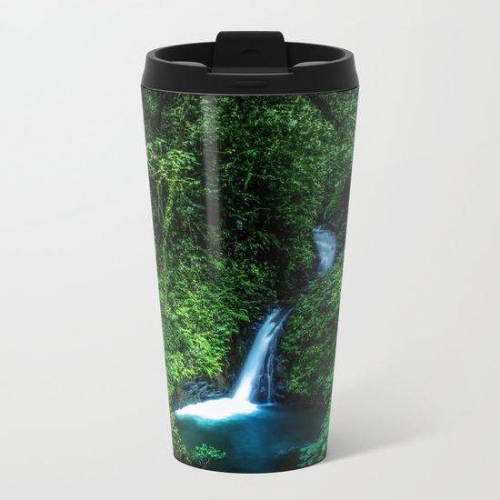 Jungle Waterfall Metal Travel Mug