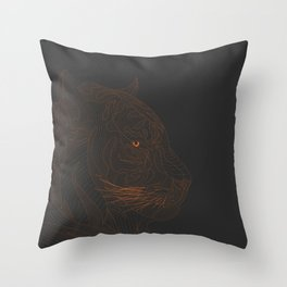 All lines lead to the...Tiger Throw Pillow