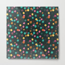 Painted Polka Metal Print