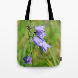 Violet blue Harebell Flower Tote Bag