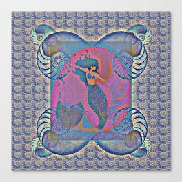 Mermaid Nautilus Shell Power Print 1 Canvas Print
