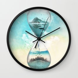 11th Hour Glass Wall Clock