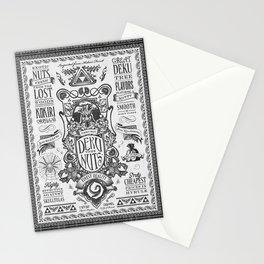 Legend of Zelda inspired Deku Nuts Vintage Advertisement Stationery Cards