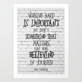 Albus Dumbledore Quote Inspirational Art Print