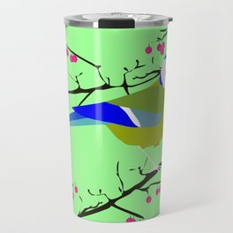 Blue tit with black eye Travel Mug
