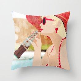 Retro Vacation Throw Pillow