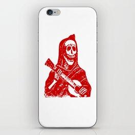 Grim Reaper With Guitar iPhone Skin
