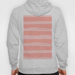 Rose Pink Stripes Design Hoody