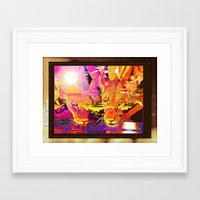 lions Framed Art Prints featuring LIONS by Saundra Myles