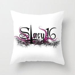 Stacy 16 logo White Throw Pillow