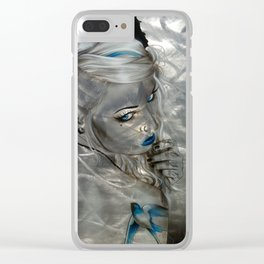 'Silver Flight' Clear iPhone Case