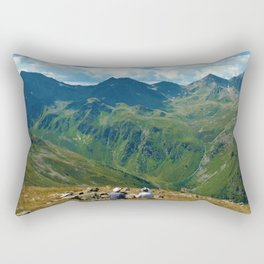 zwölferkopf hiking break view alps serfaus fiss ladis tyrol austria europe Rectangular Pillow