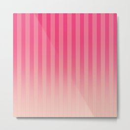 Gradient Stripes Pattern mag Metal Print