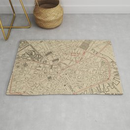 Vintage Map of Downtown Boston MA (1911) Rug