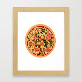 A Veggie Pizza, my Favorite Framed Art Print