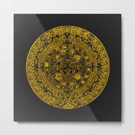 Mayan Calendar 24K Gold Metal Print