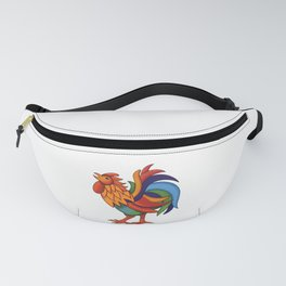 Colorful Rooster Fanny Pack