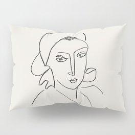 Vintage poster-Henri Matisse-Linear drawings-Catherinette. Pillow Sham