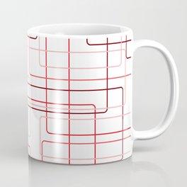 Red Cube Pattern Coffee Mug