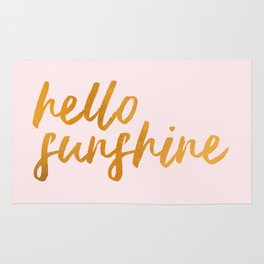 Hello sunshine - Gold and Pink Rug