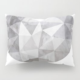 Fractal heart in shades of gray Pillow Sham