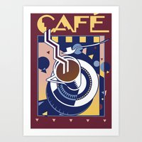 cafe Art Prints featuring Cafe by David Chestnutt