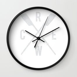 Rowing Crew Hoodie with Oars Rowers Crew Team Crew Coach Wall Clock