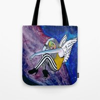 astronomy Tote Bags featuring ASTRONOMY OF PEOPLE by Ish Afeef