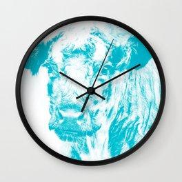 Arnamurchan Coo - Turquise Wall Clock