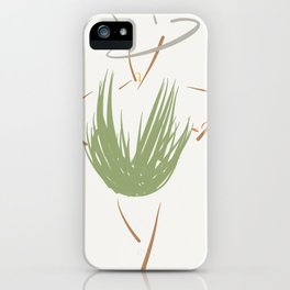 The green dress with the gray hat. iPhone Case