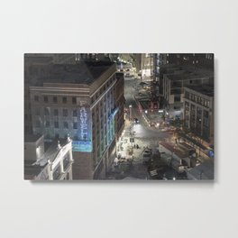Farwell Building From Above, Detroit Metal Print