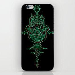 geometric hamsa  iPhone Skin