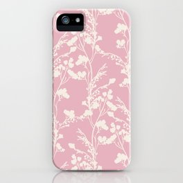 Summer Memories - Simple Botanical Silhouette on Pink iPhone Case